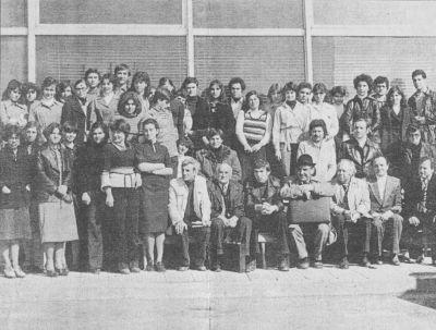 """Сборна снимка на сътрудниците на сп.""""Родна реч"""" от 1978г.- Петя в центъра на снимката - Къща музей Петя Дубарова - Бургас"""